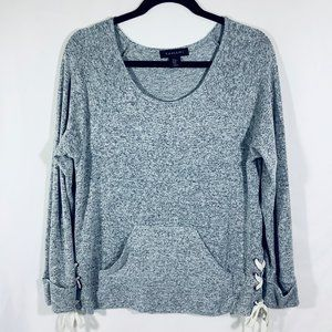 Tahari Sweater Knit Top with Side Lacing